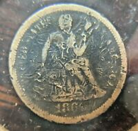 1867-S  SEATED LIBERTY DIME