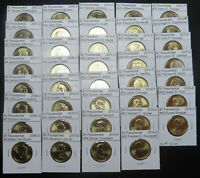2007 2016 PRESIDENTIAL GOLDEN DOLLARS 1 EA COMPLETE 39 COIN SET FROM MINT ROLLS