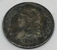 1834 CAPPED BUST SILVER HALF DIME US 90 SILVER COINAGE   COIN