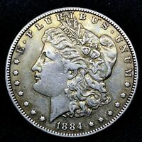 1884 P  MORGAN SILVER DOLLAR COIN.  4.6