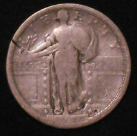 1917-S TYPE 1 SILVER STANDING LIBERTY QUARTER. .  SHIPS FREE