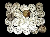 1925 - 1930 USA STANDING LIBERTY SILVER QUARTER COINS LOT OF 20 FULL DATES.