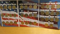 SET OF 38 UNC COMMEMORATIVE PRESIDENTIAL DOLLAR COINS IN COL