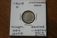 1868 S   KEY DATE   UNC      SEATED LIBERTY HALF DIME