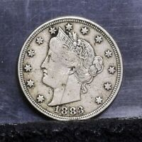1883 LIBERTY NICKEL - WITH CENTS - FINE 24410