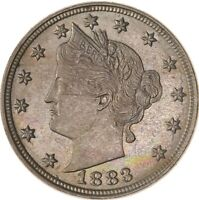 RAW 1883 LIBERTY HEAD 5C W/ NO CENTS CIRCULATED US MINT NICKEL COIN