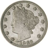 RAW 1883 LIBERTY HEAD 5C NO CENTS CIRCULATED US MINT NICKEL COIN