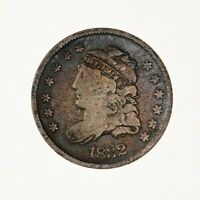 RAW 1832 CAPPED BUST H10C CIRCULATED EARLY US MINT HALF DIME COIN