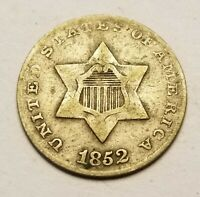 1852 THREE CENT US COIN