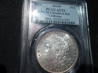 PCGS MORGAN 1884 VAM 5 DOUBLED EAR AU53 - CALIFORNIA PEDIGREE - HOT 50
