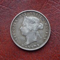 CANADA 1874H SILVER 25 CENTS