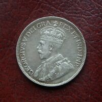CANADA 1919 SILVER 25 CENTS