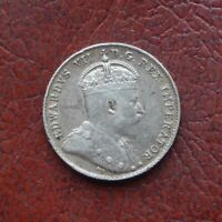 CANADA 1906 SILVER 10 CENTS