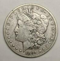 1884-P MORGAN SILVER DOLLAR