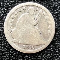 1838 SEATED LIBERTY DIME 10C CIRCULATED 19991