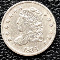 1834 CAPPED BUST HALF DIME 5C HIGH GRADE XF   20337