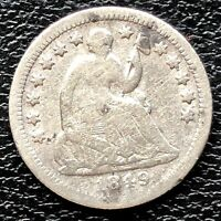 1849 O SEATED LIBERTY HALF DIME 5C BETTER GRADE  20357
