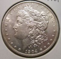 1904-P MORGAN SILVER DOLLAR BU BETTER DATE US SILVER COIN WITH GREAT DETAILS