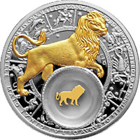BELARUS 2013 20 RUBLES LEO PROOF SILVER COIN