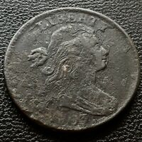1803 DRAPED BUST LARGE CENT 1C BETTER GRADE VF DETAILS 20704