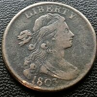 1803 DRAPED BUST LARGE CENT 1C BETTER GRADE VF - EXTRA FINE  CUD ON REVERSE 20705