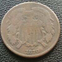 1870 TWO CENT PIECE 2C CIRCULATED 20736