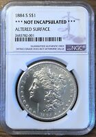 1884 S MORGAN SILVER DOLLAR - NGC CERTIFIED AUTHENTIC