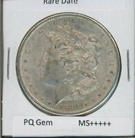1890 S MORGAN DOLLAR $1 US MINT GEM PQ SILVER COIN 1890-S MS