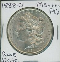 1888 O MORGAN DOLLAR $1 US MINT  DATE PQ SILVER COIN 1888-O MS
