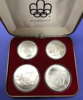 CANADA 1973 OLYMPICS SILVER COIN SET OF 4 COINS MONTREAL 197