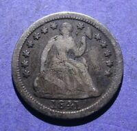 1841-O SEATED LIBERTY HALF DIME VG/F BETTER DATE