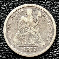 1872 SEATED LIBERTY DIME 10C BETTER GRADE 20860