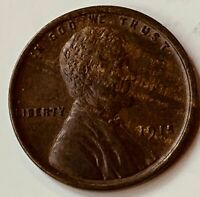 1915 LINCOLN CENT AU WOOD GRAIN TONING FROM SITTING IN ALBUM SINCE 1950'S