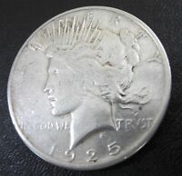 1925 S PEACE SILVER DOLLAR ONE $