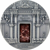 FIJI 2014 10$ MASTERPIECES IN STONE   BLUE DRAWING ROOM 3 OZ