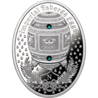 NAPOLEONIC EGG IMPERIAL FABERGE EGGS PROOF SILVER COIN 1$ NI