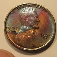 HIGH GRADE TONED AU 1929-S LINCOLN CENT ONLY $10- 9