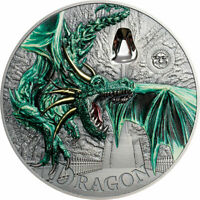 GREEN DRAGON MYTHICAL CREATURES COLLECTION ANTIQUE FINISH SI