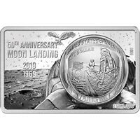 50 YEARS OF THE MOON LANDING SILVER BLACK PROOF SILVER COIN