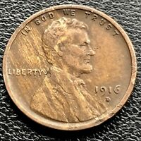 1916 D WHEAT CENT LINCOLN CENT 1C HIGH GRADE EXTRA FINE  21059
