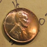 BEAUTIFULLY TONED UNCIRCULATED 1950-S LINCOLN CENT ONLY $3- FREE SHIP  202