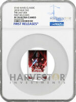 2019 STAR WARS THE LAST JEDI POSTER COIN   NGC PF70 FIRST RE
