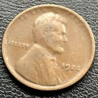 1923 S WHEAT CENT LINCOLN CENT 1C HIGHER GRADE VF 21173