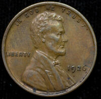1926 P LINCOLN WHEAT CENT, PENNY, UNCIRCULATED BROWN CONDITION, FREE SHIP C4437
