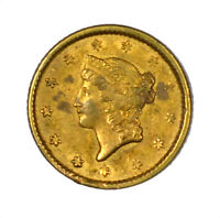 1851 LIBERTY HEAD GOLD DOLLAR G$1 US COIN ORIGINAL