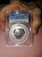 1804 DRAPED BUST HALF CENT PCGS EXTRA FINE 40 PLAIN  4 NO STEMS