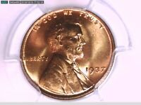 1937 P LINCOLN WHEAT CENT PCGS MINT STATE 65 RD 37644566 VIDEO