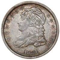 RAW 1831 CAPPED BUST 10C CIRCULATED US MINT SILVER DIME COIN