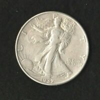 1937 D WALKING LIBERTY HALF DOLLAR EXTRA FINE  TO AU SHARP DETAIL.