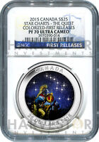 2015 CANADA SILVER STAR CHARTS THE QUEST   NGC PF70 FIRST RELEASES   NEW SERIES